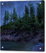 Black Rocks, Dark Sky Acrylic Print