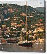 Black Sailboat At Villefranche II Acrylic Print