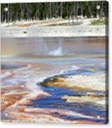 Black Sand Basin Geysers In Yellowstone National Park Acrylic Print