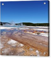 Black Sand Basin In Yellowstone National Park Acrylic Print