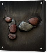 Black Sand Stones Acrylic Print