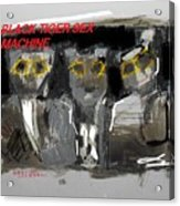 Black Tiger Sex Machine Acrylic Print