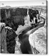 Black White Colorado River  Acrylic Print