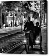 Black White Downtown Sj Trans Acrylic Print