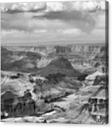 Black White Filter Grand Canyon  Acrylic Print