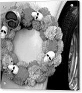 Black White Skulls Classic Car  Acrylic Print