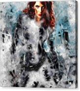 Black Widow Scarlett Johansson Acrylic Print