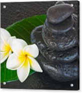 Black Zen Stones Acrylic Print