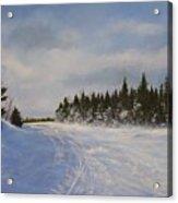 Blackbear Ski Trail Acrylic Print
