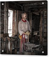 Blacksmith At The Fort Edmonton Park In Alberta Acrylic Print