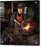 Blacksmith - Blacksmiths Like It Hot Acrylic Print by Mike Savad