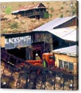 Blacksmith, Ghost Town, Jerome, Az. Acrylic Print