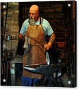 Blacksmith Acrylic Print by Kim Michaels