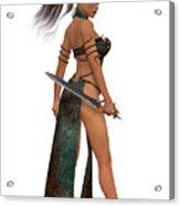 Blackthorn Woman Warrior Acrylic Print