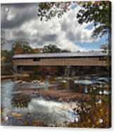 Blair Covered Bridge Acrylic Print