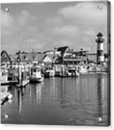 Black And White Oceanside California Marina  Acrylic Print