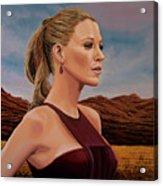 Blake Lively Painting Acrylic Print