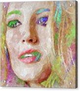 Blake Lively Watercolor Acrylic Print