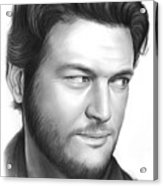 Blake Shelton Acrylic Print