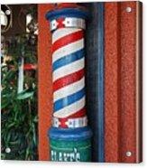 Blake's Barbershop Pole Vector I Acrylic Print
