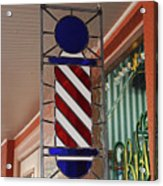 Blake's Barbershop Pole Vector II Acrylic Print