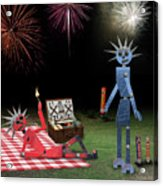 Blanche And Judy Celebrate The Fourth Acrylic Print