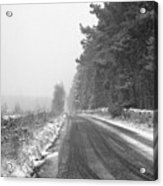 Blanchland Road In Winter, Slaley Woods Acrylic Print