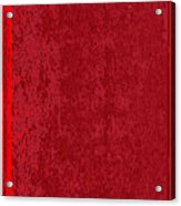 Blank Red Book Cover Acrylic Print