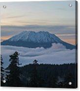 Blanket Of Fog Below Mount Saint Helens Acrylic Print
