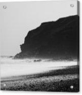 Blast Beach Monochrome Acrylic Print
