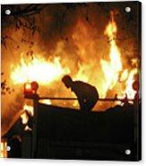 Blazing Fire Acrylic Print