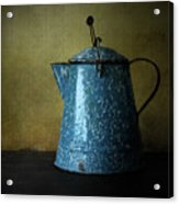 Blue Enamelware Coffee Pot Acrylic Print