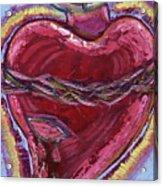 Bleeding Sacred Heart Acrylic Print