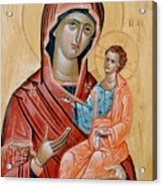 blessed Virgin Mary Acrylic Print by George Siaba