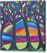 Blessing Trees 3 Acrylic Print