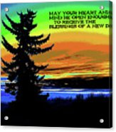 Blessings Of A New Day 2 Acrylic Print