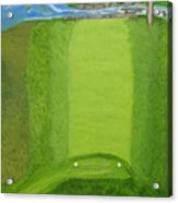 Blimp View Golf Acrylic Print