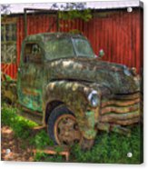 Blind In One Eye 1947 Chevy Flatbed Truck Art Acrylic Print