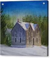 Blind River Homestead In Winter Acrylic Print