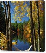 Bliss - New England Fall Landscape Hammock Acrylic Print