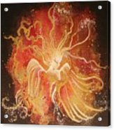 Blissful Fire Angels Acrylic Print