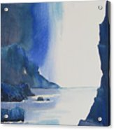 Blizzard Of Blue Acrylic Print