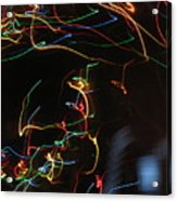 Blizzard Of Colorful Lights. Dancing Lights Series Acrylic Print