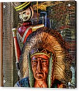 Block Heads Acrylic Print by Joetta West