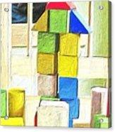 Blocks At Night Acrylic Print