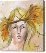 Blonde Autumn Forward Acrylic Print