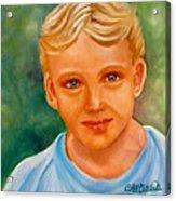 Blonde Boy Acrylic Print
