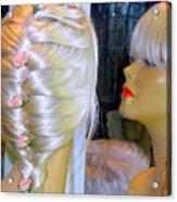 Blonde, Braids, Bangs And Beautiful Acrylic Print