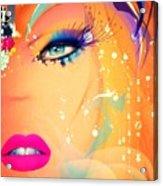 Blonde De Vogue Acrylic Print