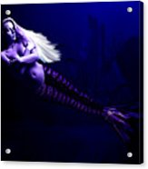 Blonde Mermaid Acrylic Print